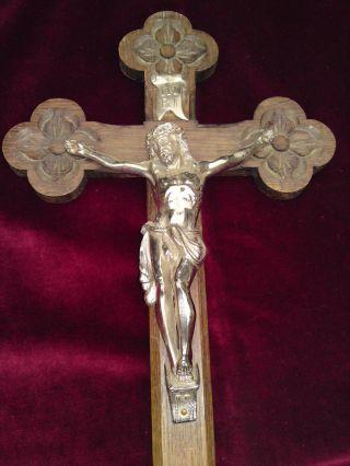 Altes Kreuz Kruzifix Wandkreuz Aus Nachlass / Dachbodenfund (kr12) Bild