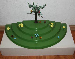 Wiese - 4 Stufig - Für Hasen & Blumenkinder - Grün - Größe - 485x240x50mm - Ovp Bild