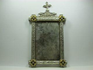 Wunderschöner Sakraler Rahmen,  Metall,  Applikationen,  Um 1900 Bild