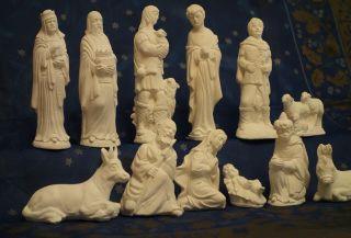 Bemalbare Krippenfiguren,  Wunderschön,  Riesengroß,  Weiß,  Top Bild