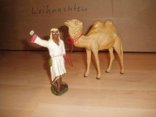 Alte Krippenfigur,  Erzgebirge,  Kamelführer Mit Kamel Bild