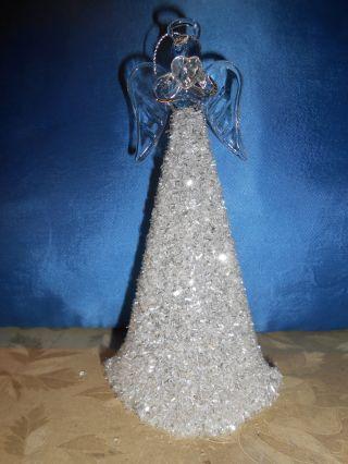 Schutzengel - Glasengel Weihnachtsengel Mit Glitzereffekt Weihnachtsdekoration Bild