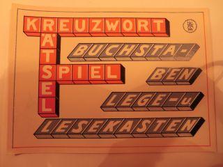 Uralte Holzbaukasten Vorlage S.  F.  Fischer Seiffen Erzgebirge 1920 Bild