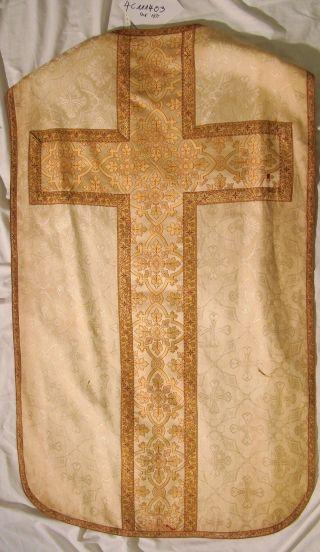 Casel Hell Römisch Bassgeige Messgewand Chasuble Vestment 4c1114003 Bild