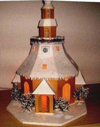 Lichterhaus,  Seiffener Kirche Mit Innenbeleuchtung - - Bild