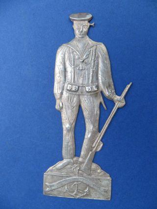 Votivgabe - Um 1940 - Soldat - Marine - Ex Voto - Ca 18 Cm - Devotionalien Bild