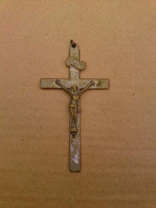 Altes Kreuz Kruzifix Soldatenkreuz Sterbekreuz Militärkreuz Feldkreuz (fe121) Bild