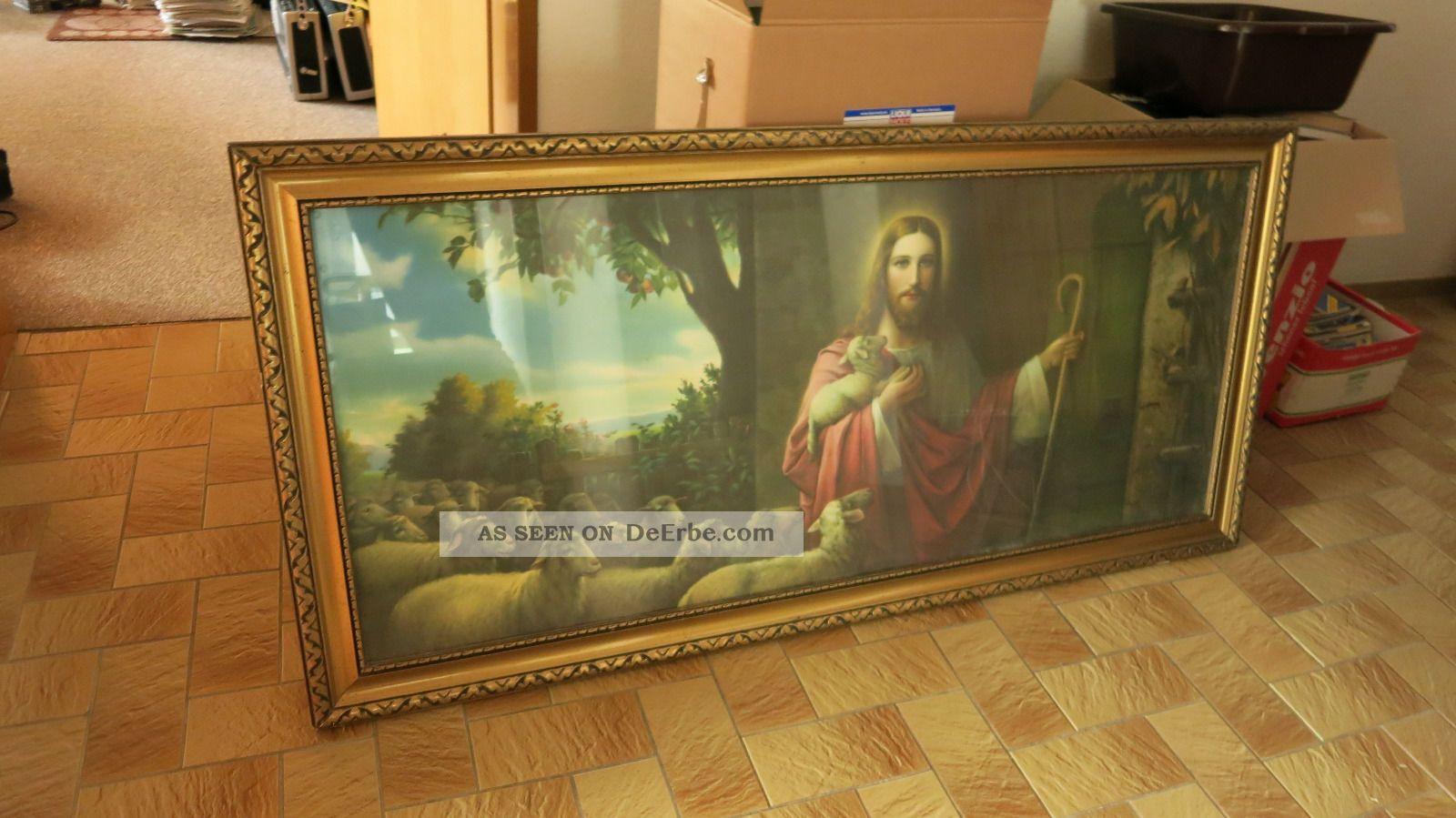 Weihnachtsgeschenk: Großes Heiligenbild Schlafzimmerbild Jesus, Der ...