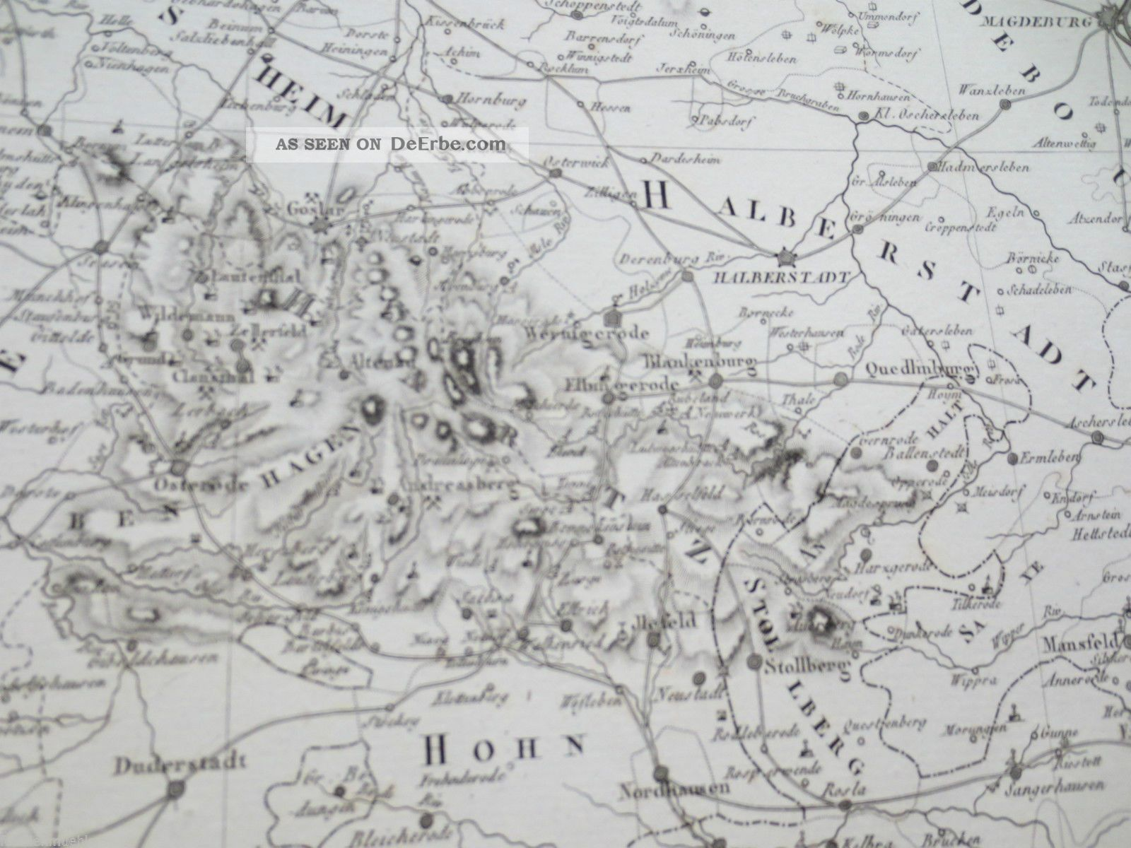 Bergbau Erzgebirge Karte.Bergbau Karte Erzgebirge Thuringen 1819 Schacht Plan