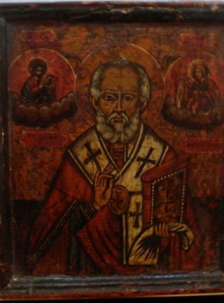 Ikone - Heiliger Nikolaus - Griechisch Um 1800 - Auf Holz Bild