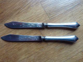 2 Messer 875 Silber 19.  Jh.  Russland Jugendstil Bär Stempel Bild