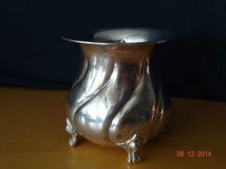 Ältere Silber Vase 800er 234 Gramm Antik Und Selten - Sehr Schön - Bärentatzen Bild