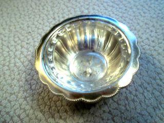 Salznapf Salznäpfchen Wmf 900 Fächermuster Fächer I/0 Silber Zum Silberbesteck Bild