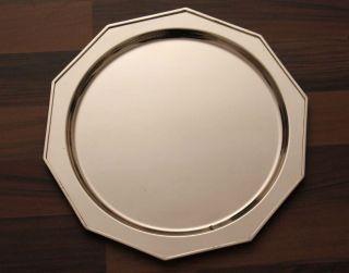 Robbe & Berking Alt Spaten Platzteller 90er Silberauflage Teller Silber Tablet Bild