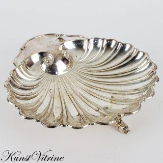Versilberte Schale In Muschelform Mit Füßen In Form Von Fischen,  Meistermarke Bild