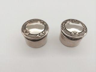 2 Schöne Kleine Silberdosen Pillendosen 800er Silber (alter Unbestimmt) Bild