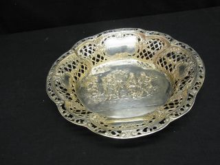 Schale 800er Silber Alt Mit 458 Gramm. Bild