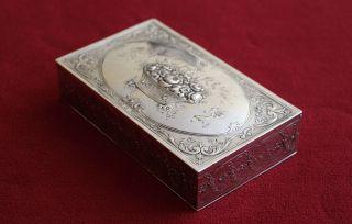 Antike Dose 800 Er Silber / Handarbeit? Bild