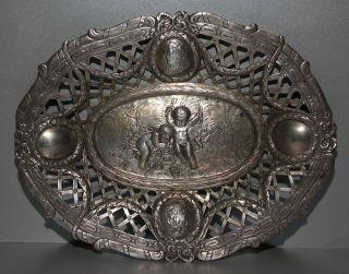 Silber 800 Korb Schale 800er Mit Putten 305 Gramm Bild