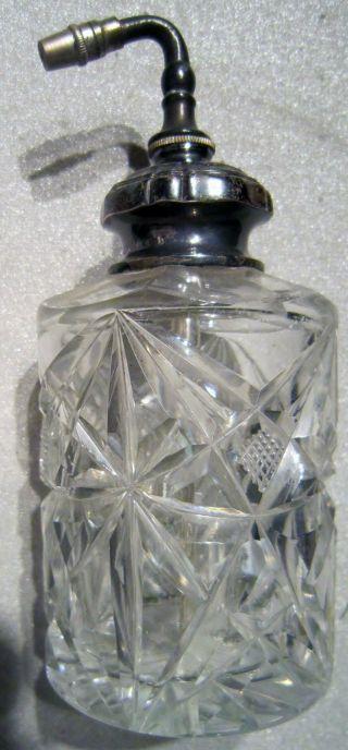 Art - Dekor Parfüm - Flakon Und Zerstäuber / Bleikristal Mit 800er Silbermontur 1920 Bild