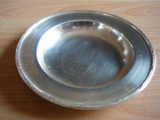 Christofle : Kleine Schale Mit Kreuzbanddekor - Silberauflage Bild