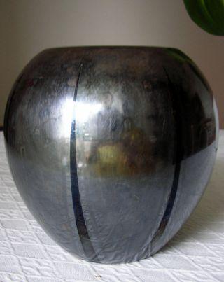 Vase Wmf Ikora Metall Bauchig Silbern Versilbert Ca. Bild