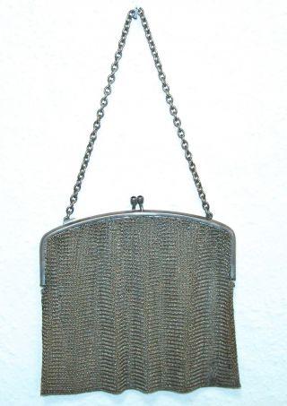 Theatertasche Abendtasche Silber 900 20er Jahre Tasche Aus Silberdraht Bild