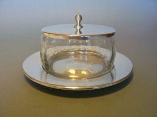 Bonboniere Art Deco,  Marmeladendose Wmf Versilbert Kristallglas Um 1925 Bild