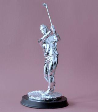 Golfer Statue Figur Versilbert Bild