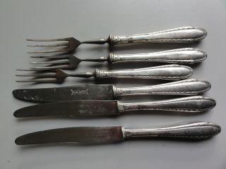 6 Teile Obst Besteck 800er Silber Bild