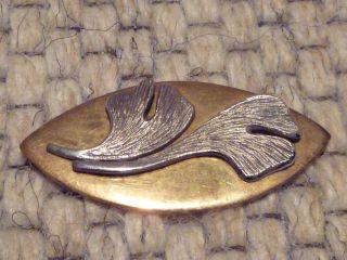 Gingko - Auflage Aus Sterling - Silber Bild