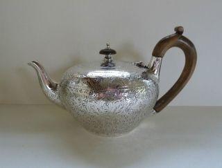 Englische Sterlingsilber Teekanne,  London 1958 Bild