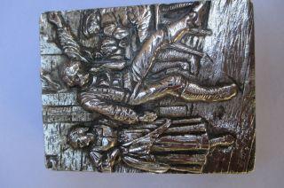 Prächtige Massive Silberdose 800er Um 1920,  Deutsch,  155 Gramm Bild