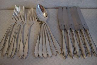 18 Teiliges Wmf Besteck Silber Auflage 90 Selten Messer Gabeln LÖffel Bild