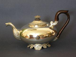 Aus Adelsbesitz: Biedermeier Empire Teekanne,  Stuttgart,  Hoflieferant Foehr Bild