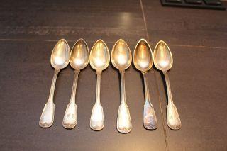 Löffel Silber,  Gepunzt 800,  6 Teile Bild