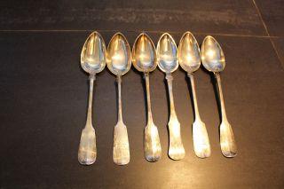 Löffel Silber,  Gepunzt Kopf Der Diana 1,  6 Teile Bild