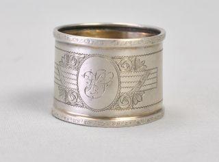 Serviettenring Silber 800 Initialien W S Antik Selten Vintage Napkin Ring Bild