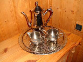 Kaffee - Teeservice Versilbert 4tlg. Bild