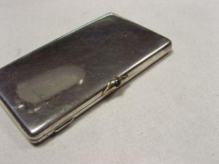 Hochwertiges,  Exclusives Etui In 925 Silber,  Verschlußknopf In 585 Gold Bild