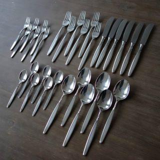 Wmf Rom 4500 - 30teile - Speisebesteck - 6 Personen - Gabel Messer LÖffel MenÜ Bild