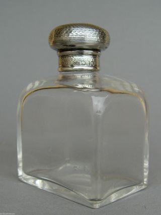 Edler Engl.  Art DÉco Parfum Flakon,  Mit 925 Sterling Silber Deckel,  London Um 1902 Bild
