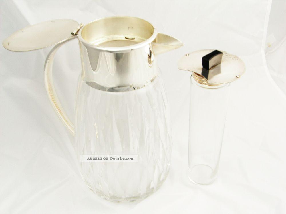 Art Deco Kalte Ente Kristallkrug Versilbert Wmf Kristall Geschliffen Objekte vor 1945 Bild