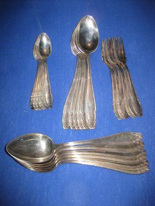 Altes Silberbesteck - 90er Auflage - 1,  1 Kg Silberschrott - Konvult,  Leuchter Bild