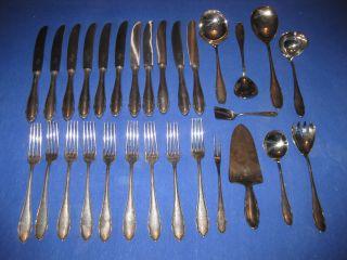 Antikes Wmf Silberbesteck 90er - 29 Teile - Besteckteile - Silberschrott 1,  8 Kg Bild