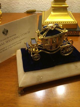 Faberge Kaiserliche Hochzeitskutsche 925 Silber Von Franklin Bild
