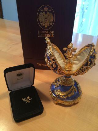 Faberge Dornröschen Juwelenei 925 Silber Von Franklin Saphir Weiß Bild