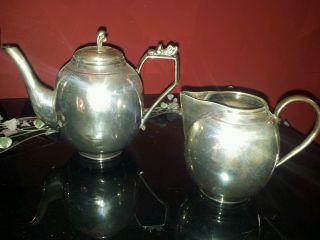 Kaffee Und Milchkännchen 900er Silber Bild
