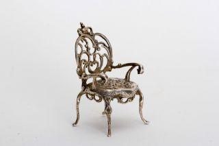 Minisilver Gebrüder Kühn,  Silber Miniatur,  Armlehnstuhl Im Barock Stil Bild