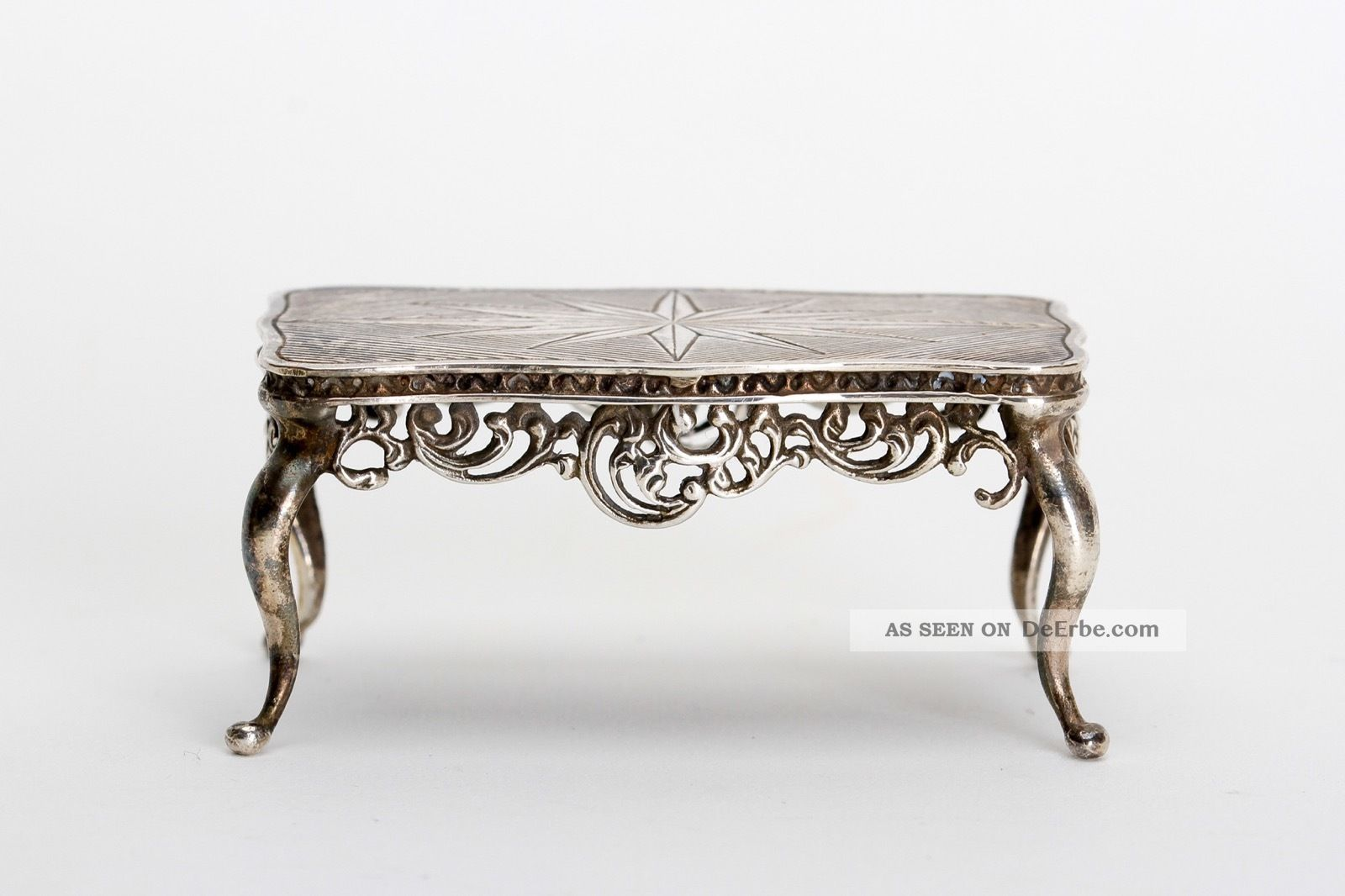minisilver gebr der k hn silber miniatur tisch im barock. Black Bedroom Furniture Sets. Home Design Ideas